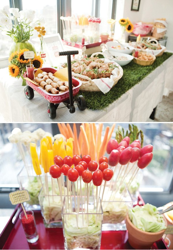 Indoor picnic party first birthday hostess with the for Indoor party decoration ideas