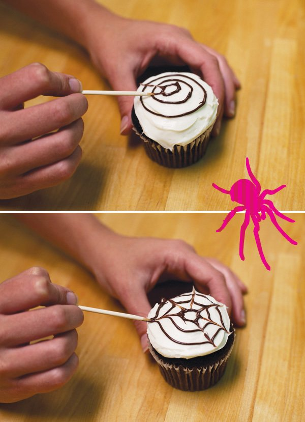 spider cupcakes tutorial