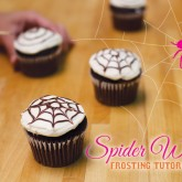 spider frosting cupcake tutorial on hwtm