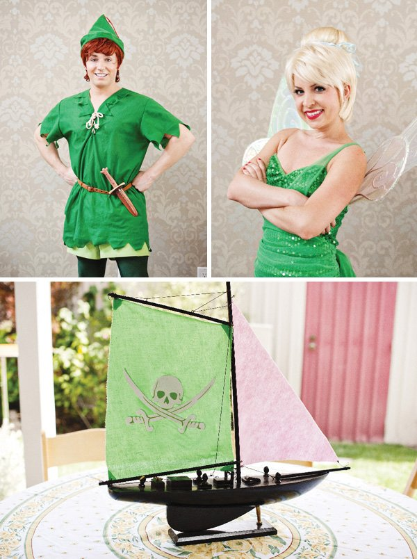 tinker bell and peter pan costumes