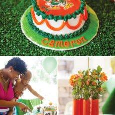 um football birthday cake