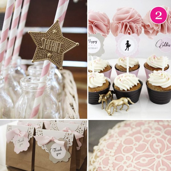 vintage cowgirl birthday party