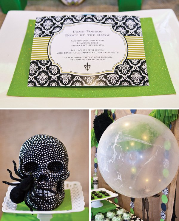 voodoo halloween party invitation