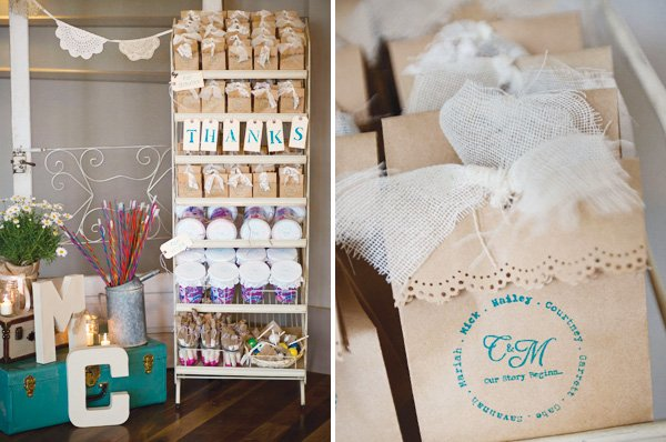vintage wedding favor bags