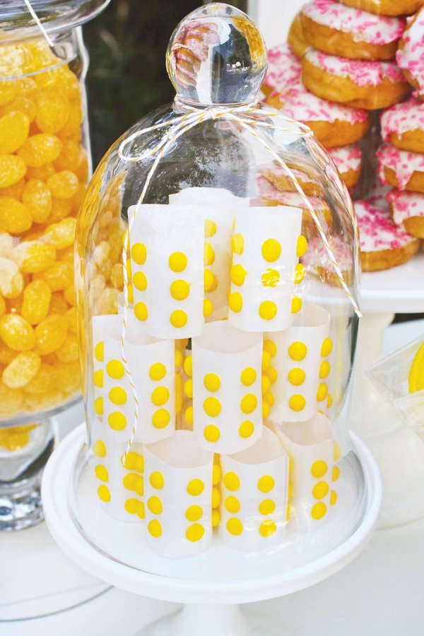 yellow candy dot decoration