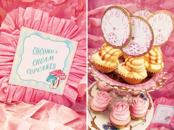alice clock cupcakes