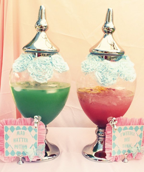 alice tea party drinks