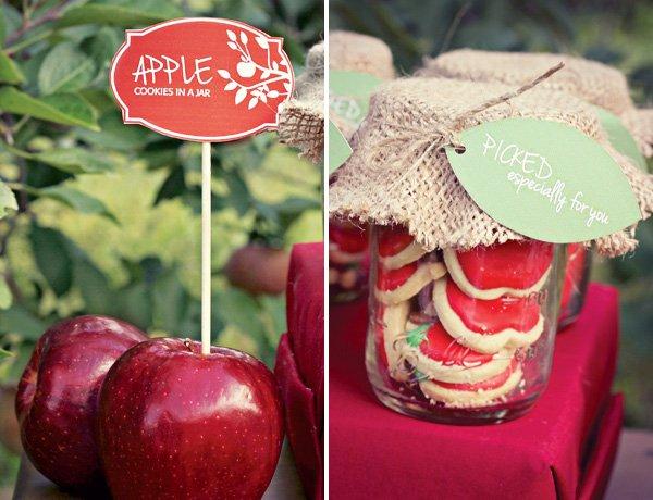 apple cookie mason jar