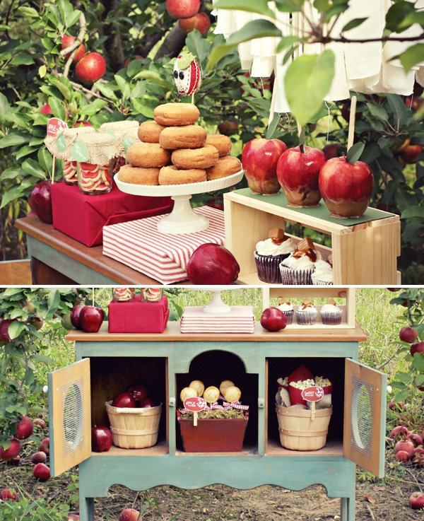apple orchard dessert display