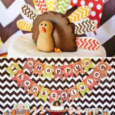 bright chevron Thanksgiving