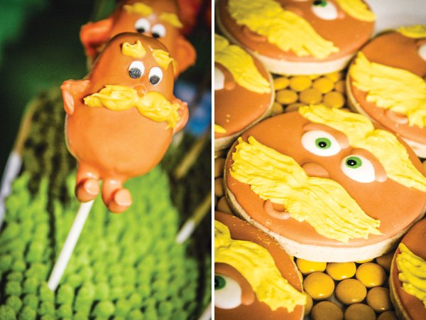 lorax cookies and cake pops