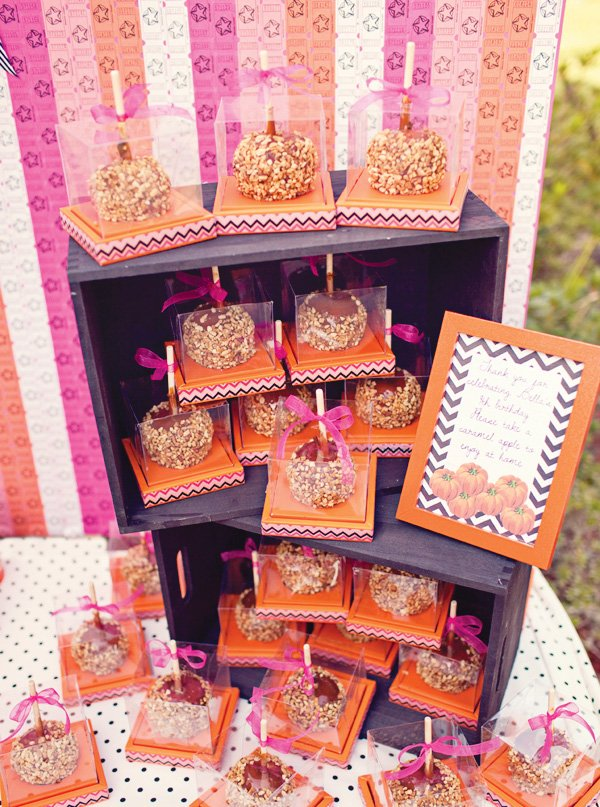 pink carnival candy apples