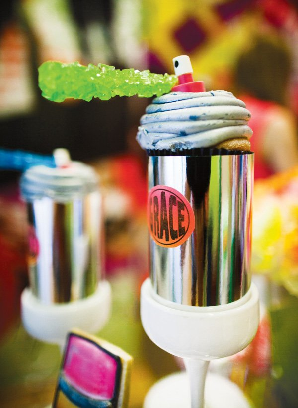 spray paint can cupcake