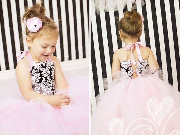 pink tutu and damask halter