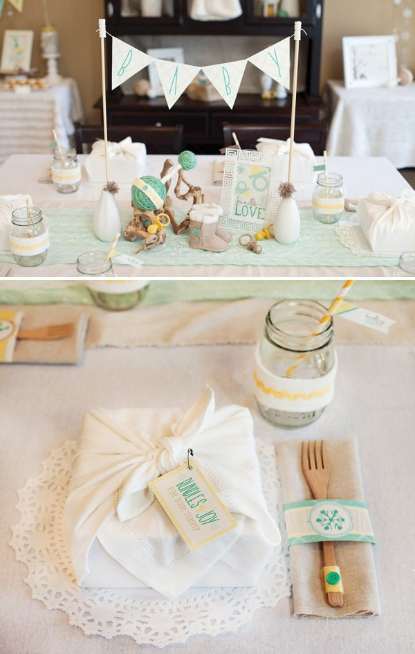 Quot bundle up baby winter shower part tabletop