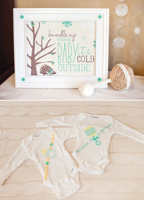 baby shower onesie decor
