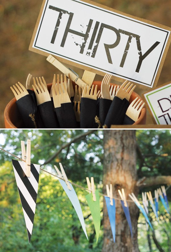 bamboo party utensils