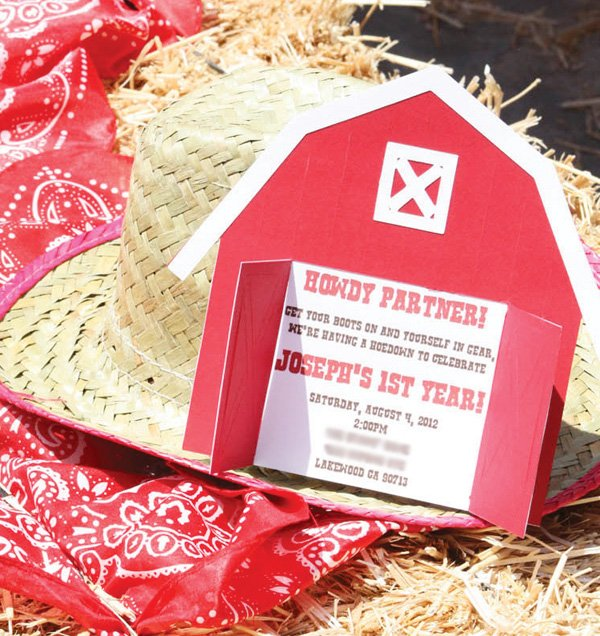 barn yard invitation