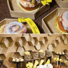 bee thankful thanksgiving dessert table