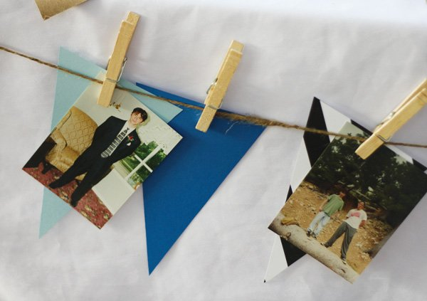 birthday bunting with pictures