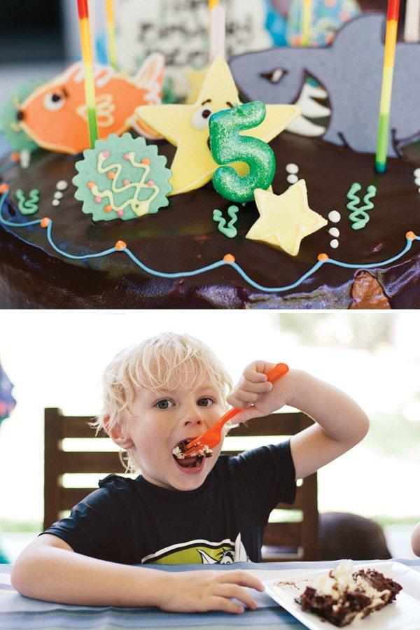 sea creature birthday cake