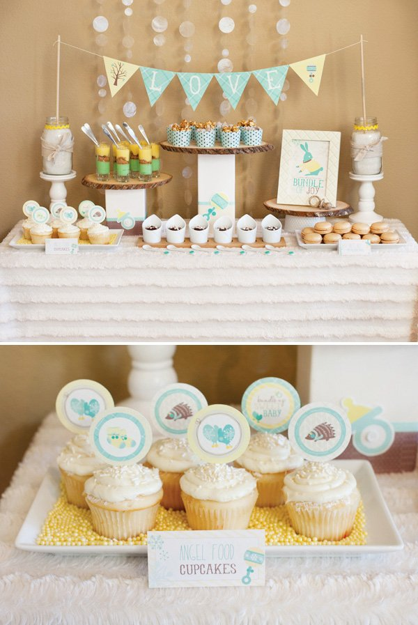 Bundle Up Baby Winter Baby Shower Part 2 Mini Desserts Hot