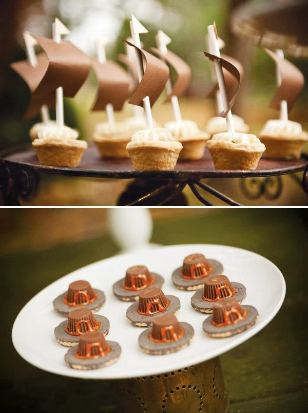 chocolate pilgrim hats