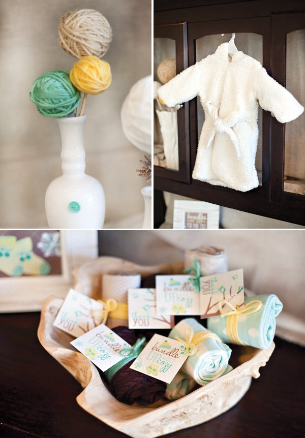 cozy baby shower decorations
