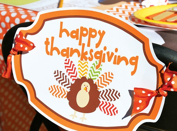 cute thanksgiving chair back