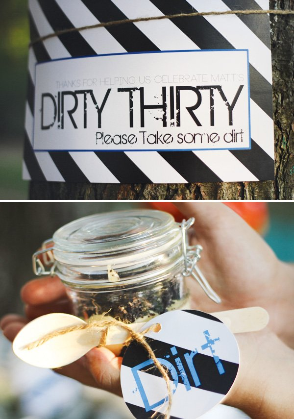 dirt party favors