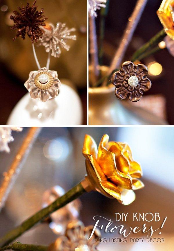 diy knob flowers - hwtm
