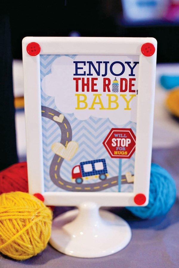 enjoy the ride printable sign