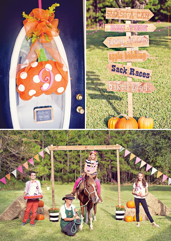 fall pumpkin carnival sign