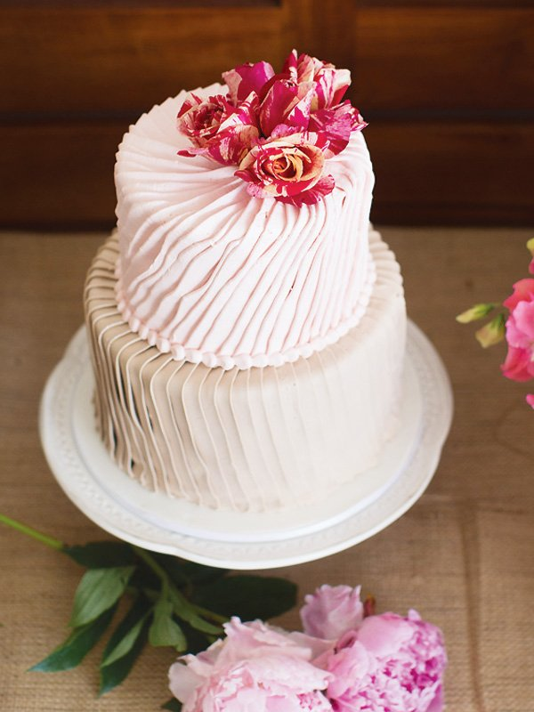floral ruffle birthday cake