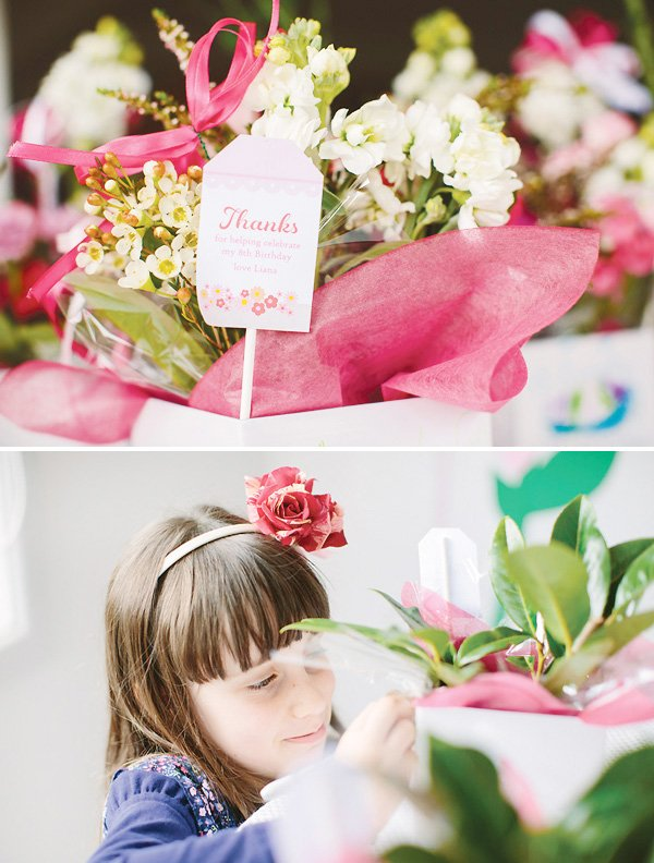 cute flower basket gift tags