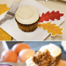 ginger spice cupcakes with cream cheese frosting