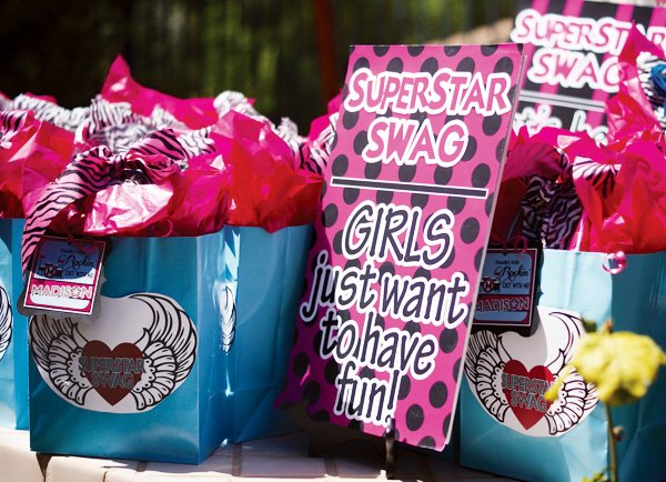 girl swag bag favors