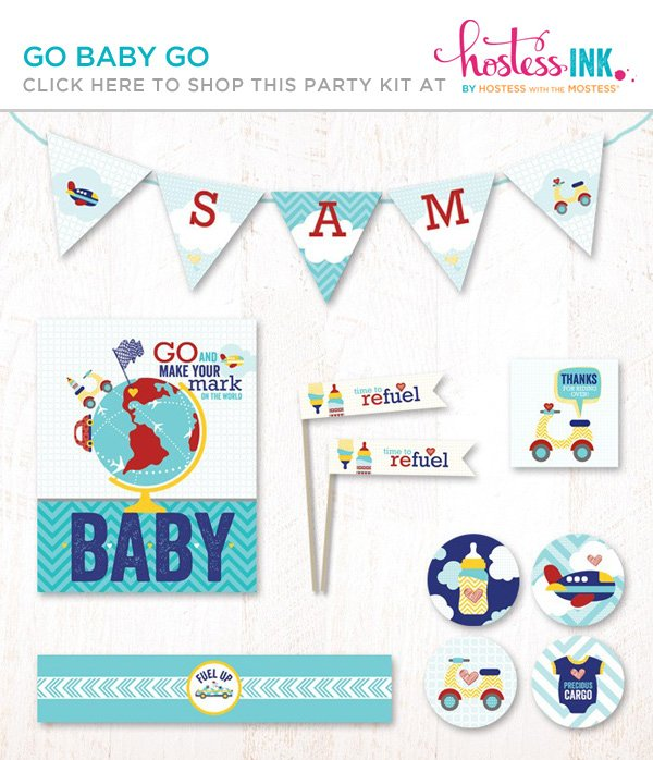 go baby go boy baby shower party printables collection on hostess ink