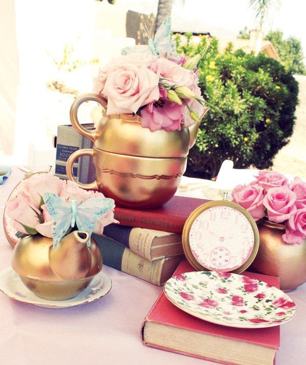 gold tea party