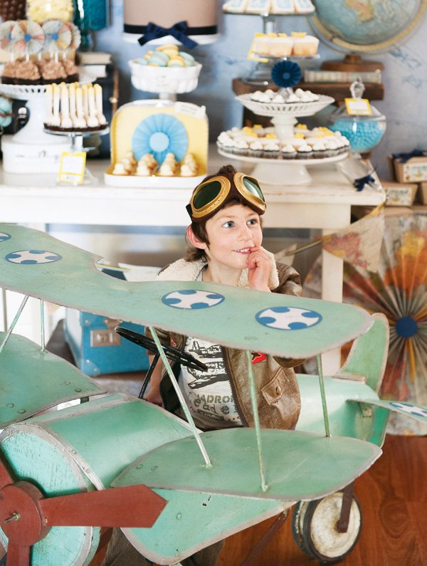 Harrys Super Stylish Vintage Airplane Party Hostess with the