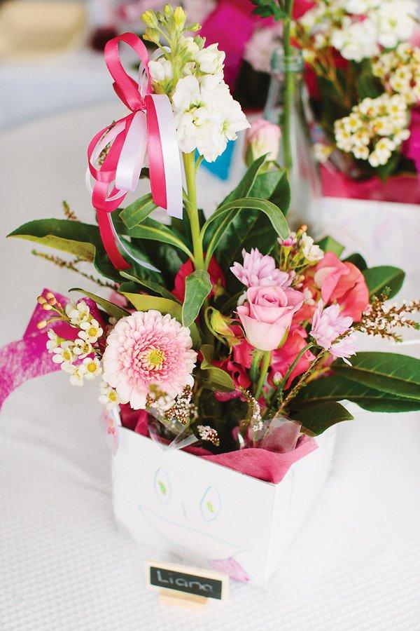 kids flower centerpiece