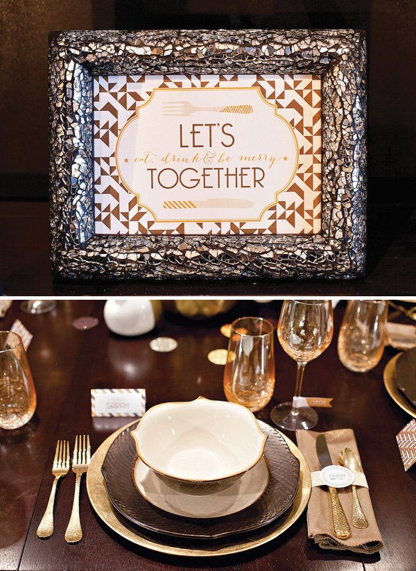 metallic 4x6 party sign