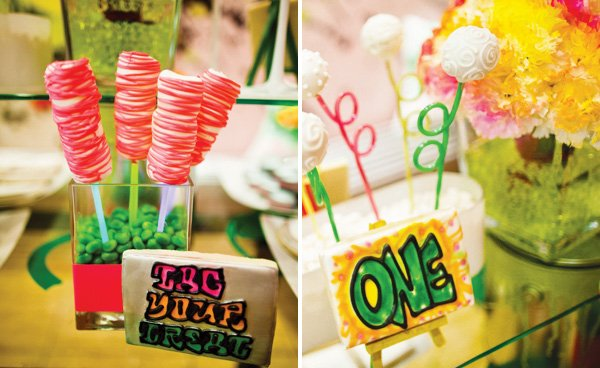 neon dessert pops