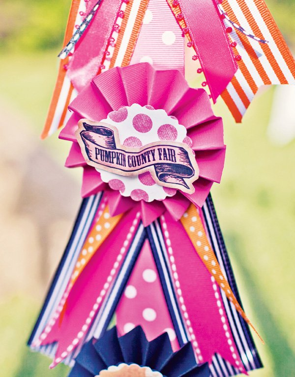 pink carnival ribbons award