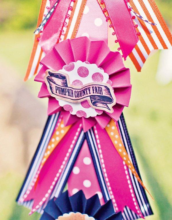 pink carnival ribbons award