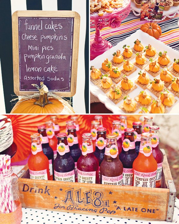pumpkin carnival food and drink