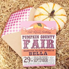 pumpkin county fair invitation