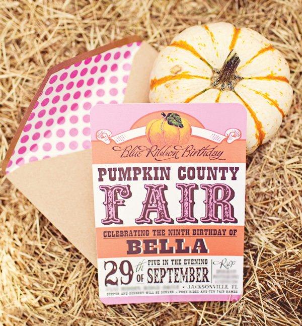 pumpkin county fair invitation
