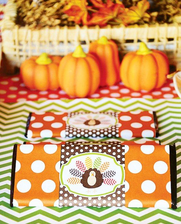 turkey candy bar wrap