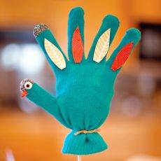 thanksgiving turkey glove craft